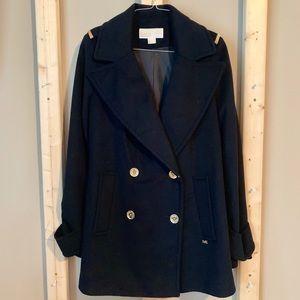 Navy Blue Michael Kors Pea Coat